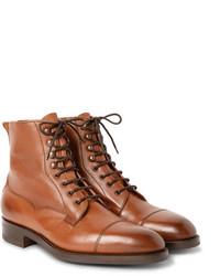 Bottes habillées en cuir marron