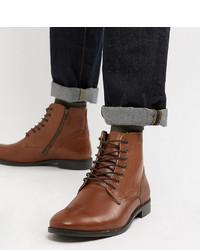 Bottes habillées en cuir marron ASOS DESIGN