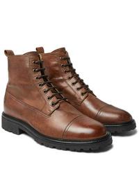 Bottes habillées en cuir marron Belstaff