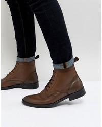 Bottes habillées en cuir marron Dead Vintage