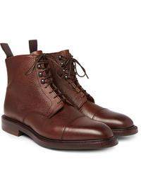 Bottes habillées en cuir marron Kingsman