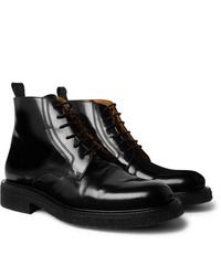 Bottes habillées en cuir noires Ami
