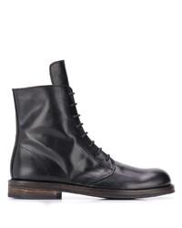 Bottes habillées en cuir noires Ann Demeulemeester