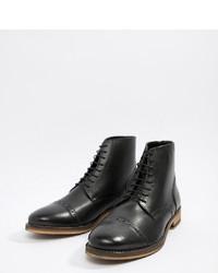 Bottes habillées en cuir noires ASOS DESIGN