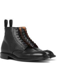Bottes habillées en cuir noires Cheaney