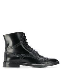 Bottes habillées en cuir noires Dolce & Gabbana