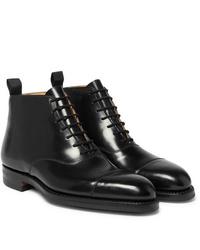 Bottes habillées en cuir noires George Cleverley