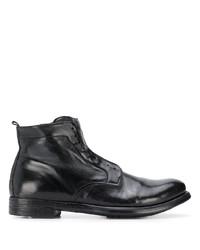 Bottes habillées en cuir noires Officine Creative