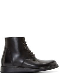 Bottes habillées en cuir noires Rick Owens