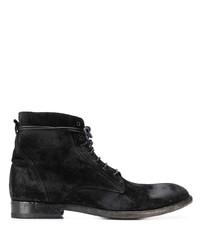 Bottes habillées en daim noires Tagliatore