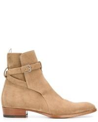 Bottes habillées marron clair Saint Laurent