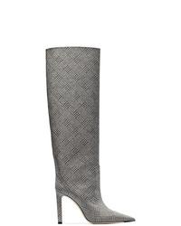 Bottes hauteur genou en cuir grises Jimmy Choo