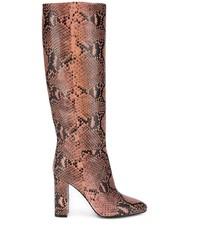 Bottes hauteur genou en cuir imprimées serpent roses Twin-Set