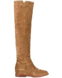 Bottes hauteur genou en cuir marron clair Ash