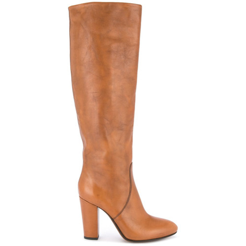 Bottes hauteur genou en cuir marron clair Buttero