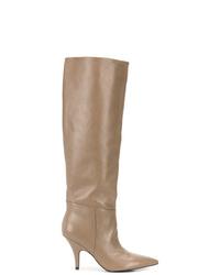 Bottes hauteur genou en cuir marron clair Kendall & Kylie