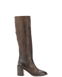 Bottes hauteur genou en cuir marron Marsèll