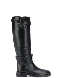 Bottes hauteur genou en cuir noires Ann Demeulemeester