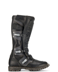 Bottes hauteur genou en cuir noires Balenciaga