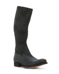 Bottes hauteur genou en cuir noires C Diem