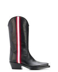 Bottes hauteur genou en cuir noires Calvin Klein 205W39nyc