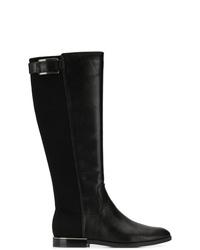 Bottes hauteur genou en cuir noires Calvin Klein