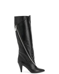 Bottes hauteur genou en cuir noires Givenchy
