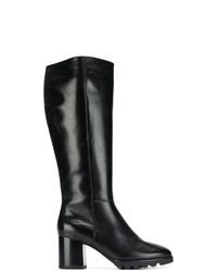 Bottes hauteur genou en cuir noires Högl
