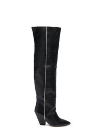 Bottes hauteur genou en cuir noires IRO
