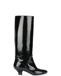 Bottes hauteur genou en cuir noires Marc Jacobs