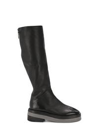 Bottes hauteur genou en cuir noires Marsèll