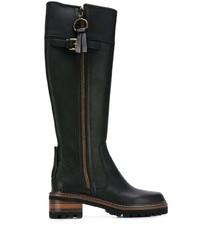 Bottes hauteur genou en cuir noires See by Chloe
