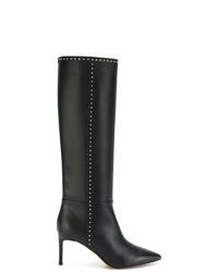 Bottes hauteur genou en cuir noires Valentino