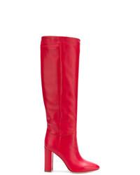 Bottes hauteur genou en cuir rouges Twin-Set