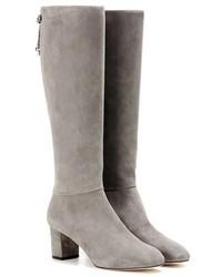 Bottes hauteur genou en daim grises