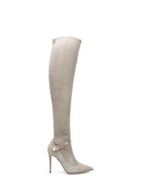 Bottes hauteur genou en daim grises Giorgio Armani