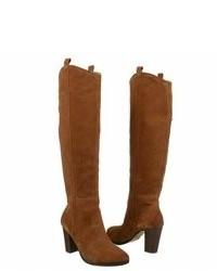 Bottes hauteur genou en daim marron