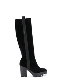 Bottes hauteur genou en daim noires Calvin Klein Jeans