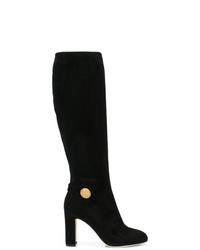 Bottes hauteur genou en daim noires Dolce & Gabbana