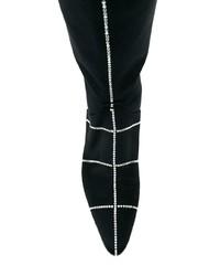 Bottes hauteur genou en satin noires Nina Ricci
