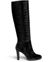 Bottes hauteur genou en velours noires