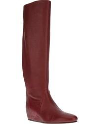 Bottes hauteur genou rouges original 1549311