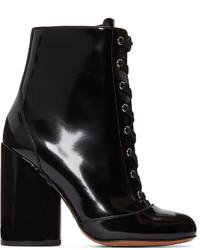 Bottes mi-mollet en cuir noires Marc Jacobs