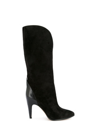 Bottes mi-mollet en daim noires Givenchy