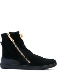 Bottes noires Versace