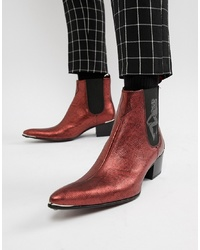 Bottes western en cuir bordeaux Jeffery West