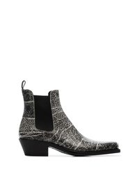 Bottes western en cuir gris foncé Calvin Klein 205W39nyc