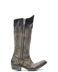Bottes western en cuir marron Golden Goose Deluxe Brand