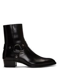 Bottes western en cuir noires