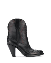 Bottes western en cuir noires Givenchy